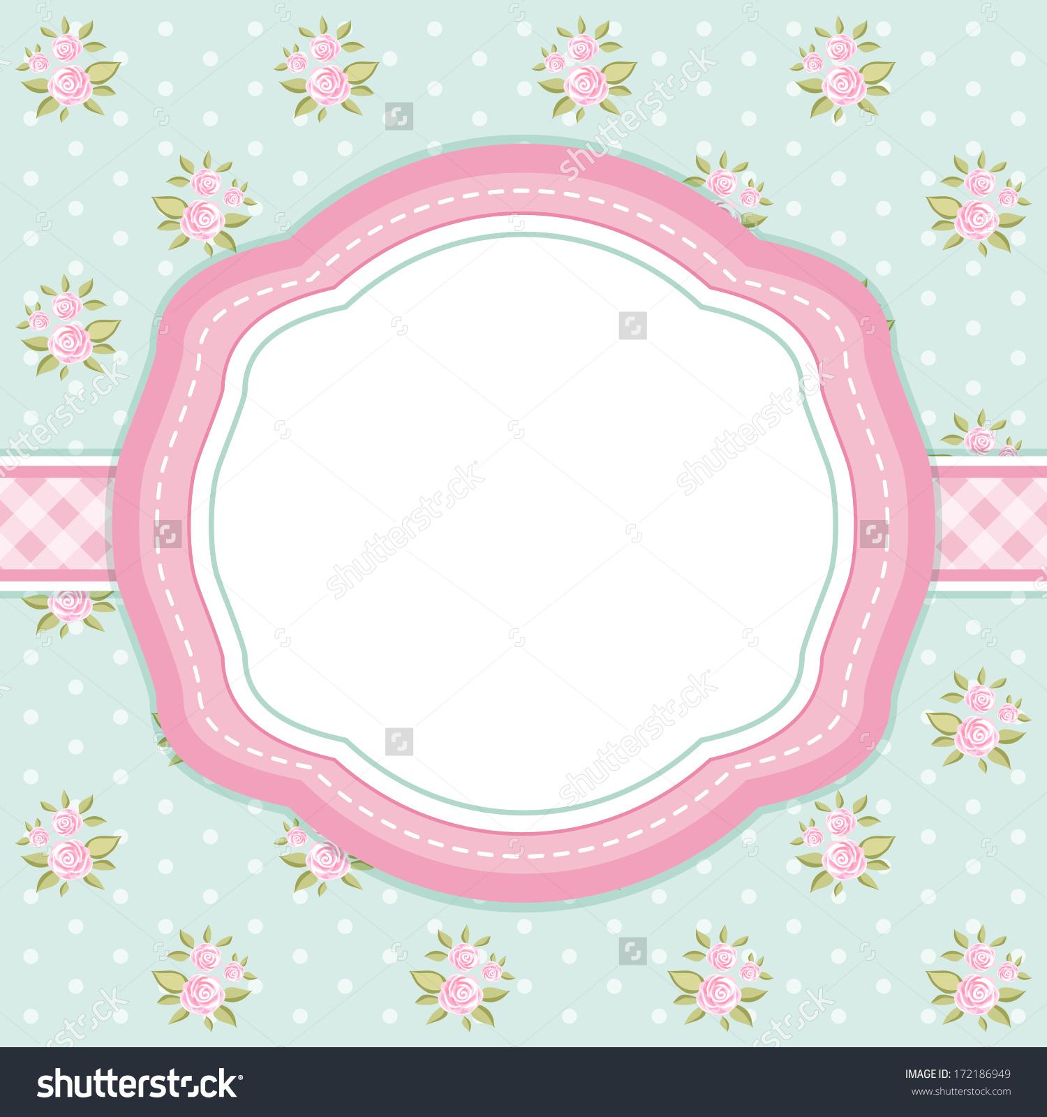Retro Card Oval Frame On Shabby Stock Illustration 172186949.