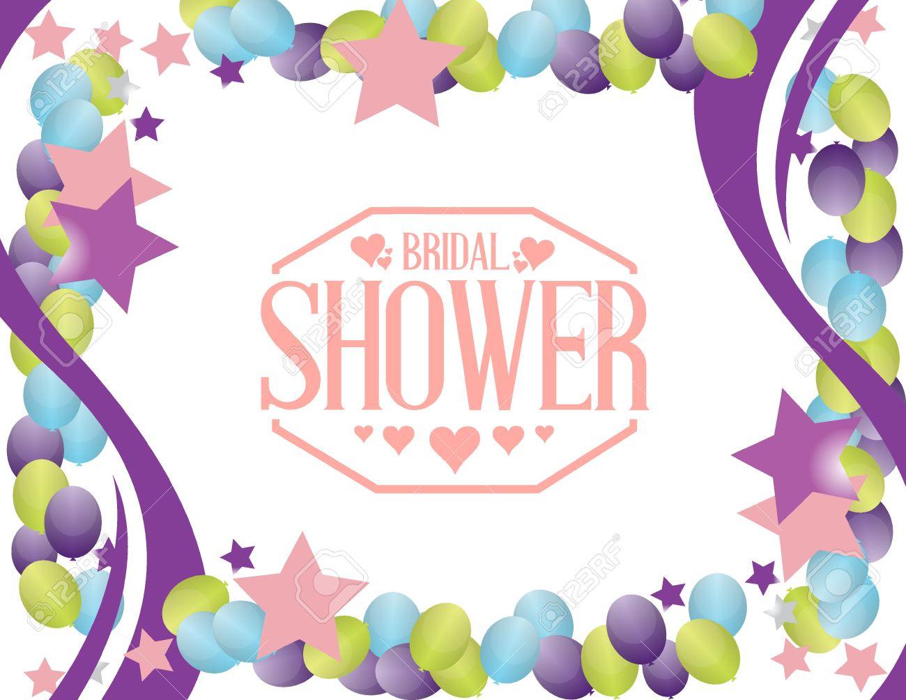 Bridal Shower Party Sign Background Illustration Design Graphic.