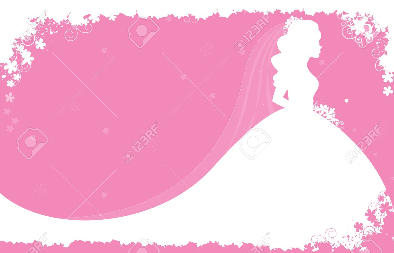 Bridal Shower / Wedding Invitation Card Background With A.