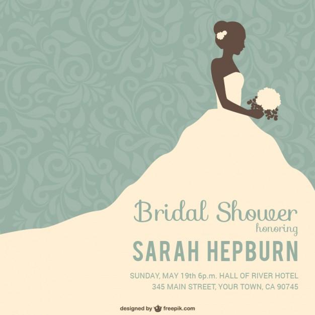 Bridal shower invitation Vector.