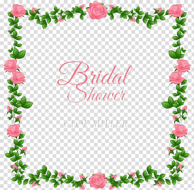 Pink flowers illustration with text overlay, Wedding.