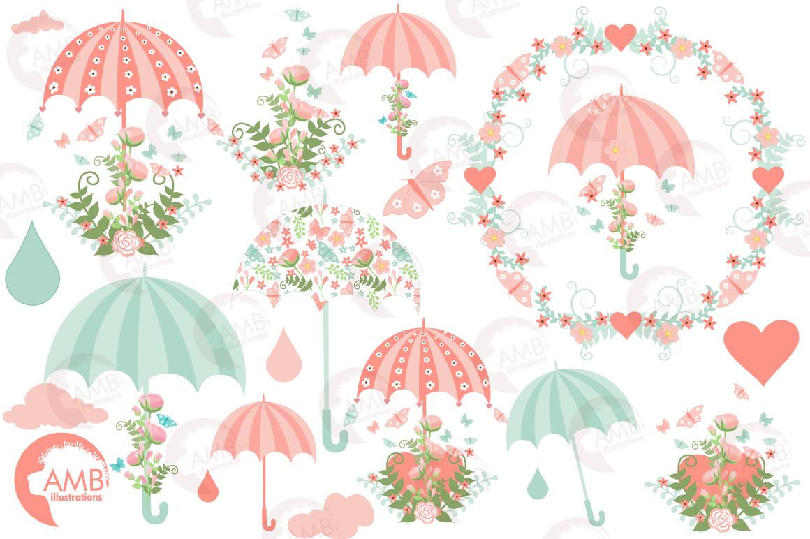 Bridal shower clipart, graphics, illustrations AMB.