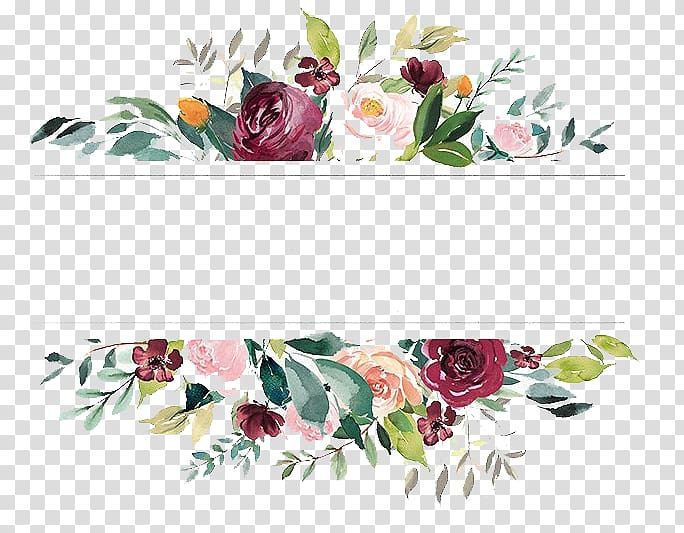 Multicolored flowers border, Wedding invitation Save the.