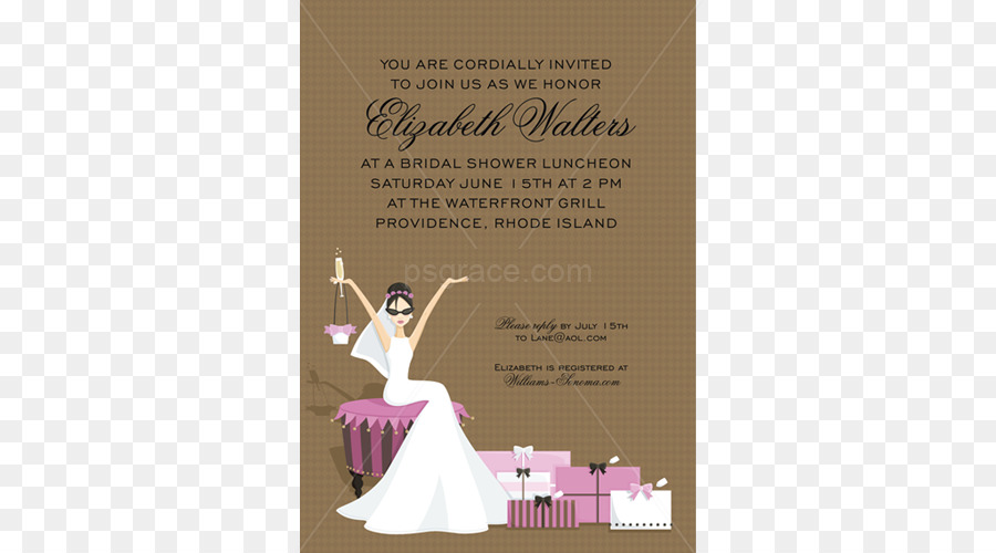 Wedding Party Invitation clipart.