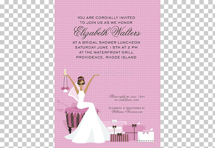 Wedding invitation Bridal shower Bride Gift, wedding PNG.