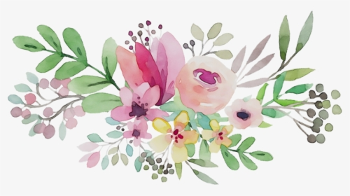 Transparent Bridal Shower Flower Clipart.