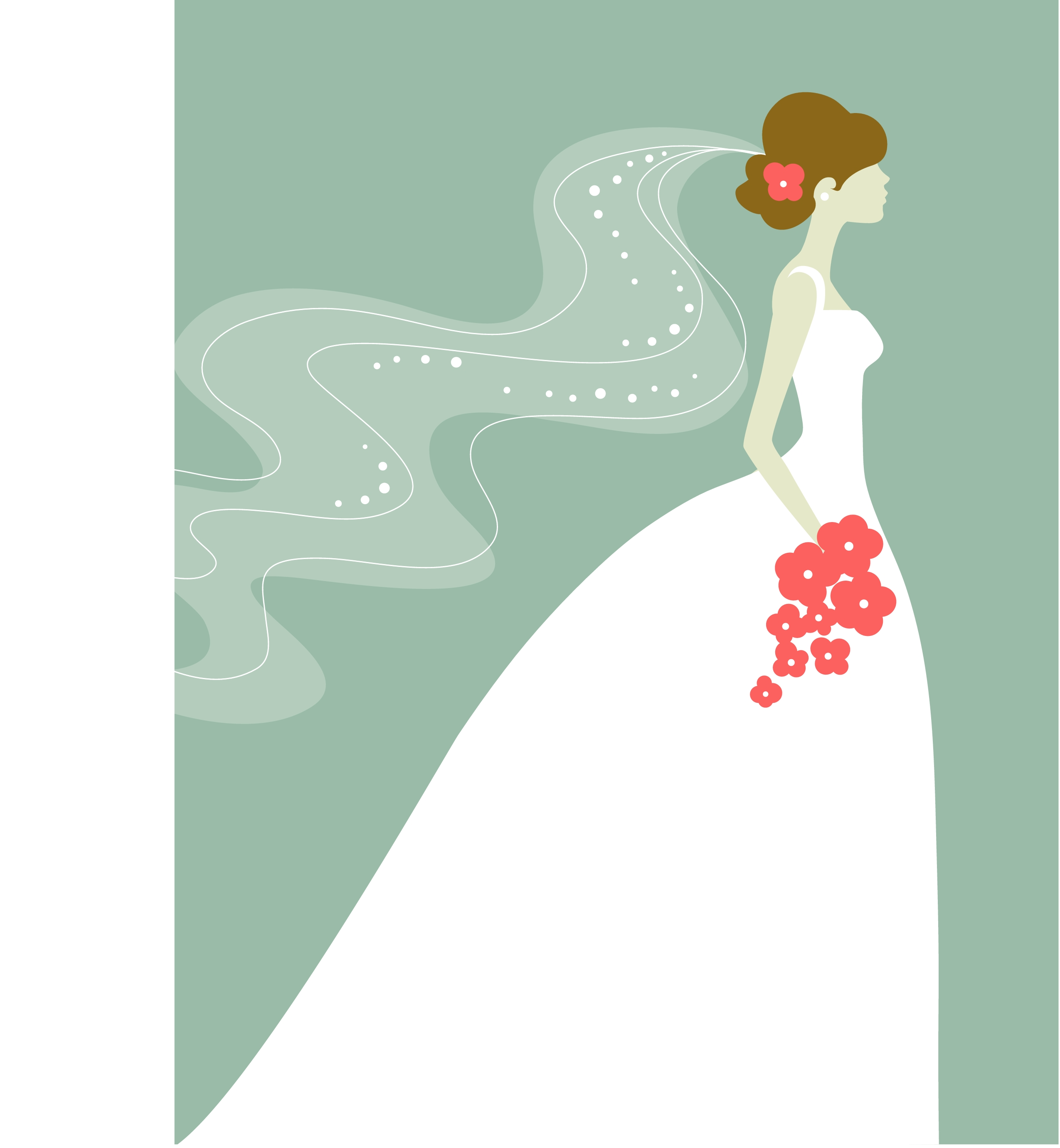 Bridal shower silhouette clip art.