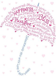 Bridal Shower Umbrella Clipart.