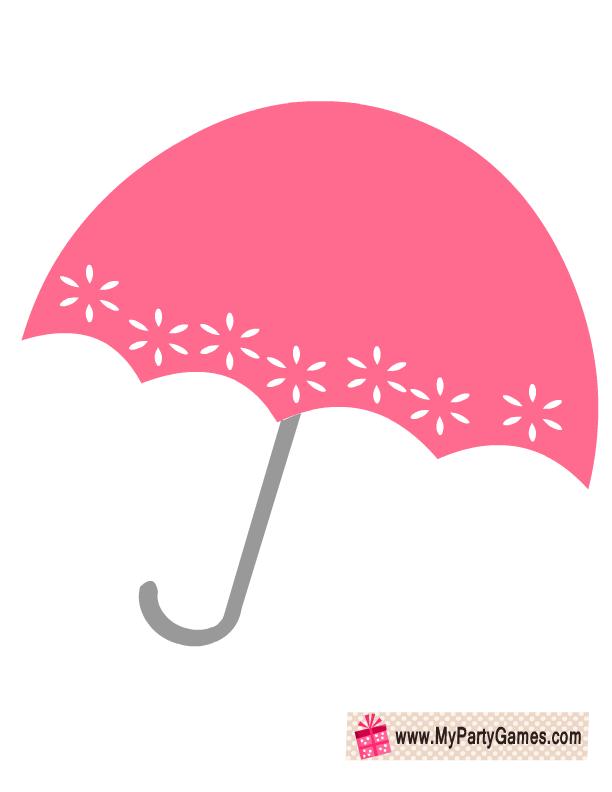 Free Printable Umbrella Prop for Bridal Shower.