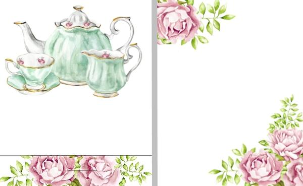 Tea Party Baby or Bridal Shower Wedding or Anniversary Mint Favors.