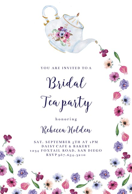 Bridal Shower Invitation Templates (Free).