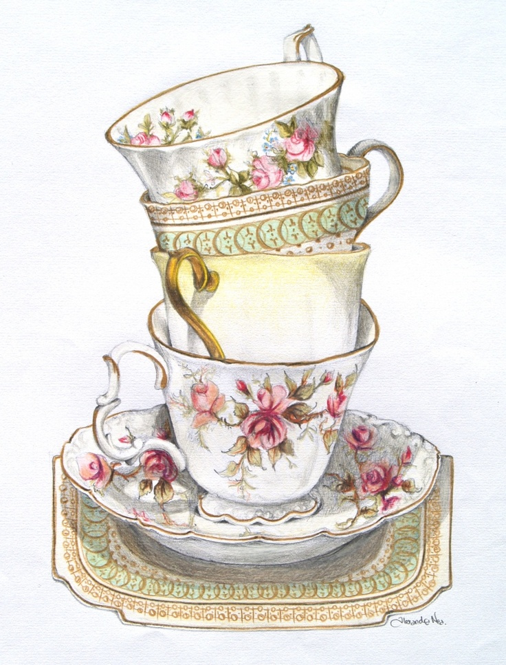 Vintage afternoon tea clipart 11 » Clipart Station.