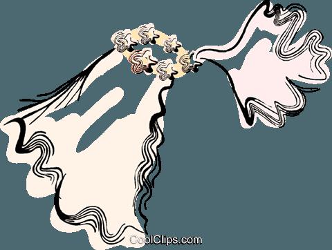 Bridal Veil Royalty Free Vector Clip Art illustration.