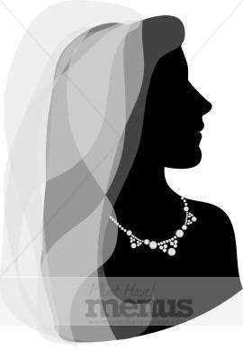 Bride Veil Clipart.
