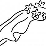 Bride Veil Clip Art.