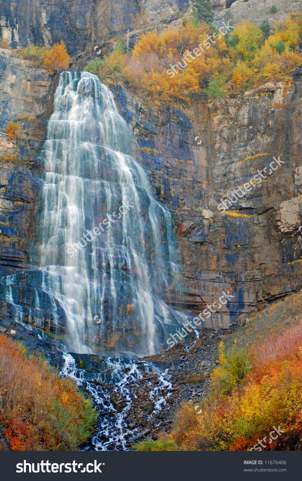Bridal Veil Falls Provo Canyon Utah Stock Photo 11676406.