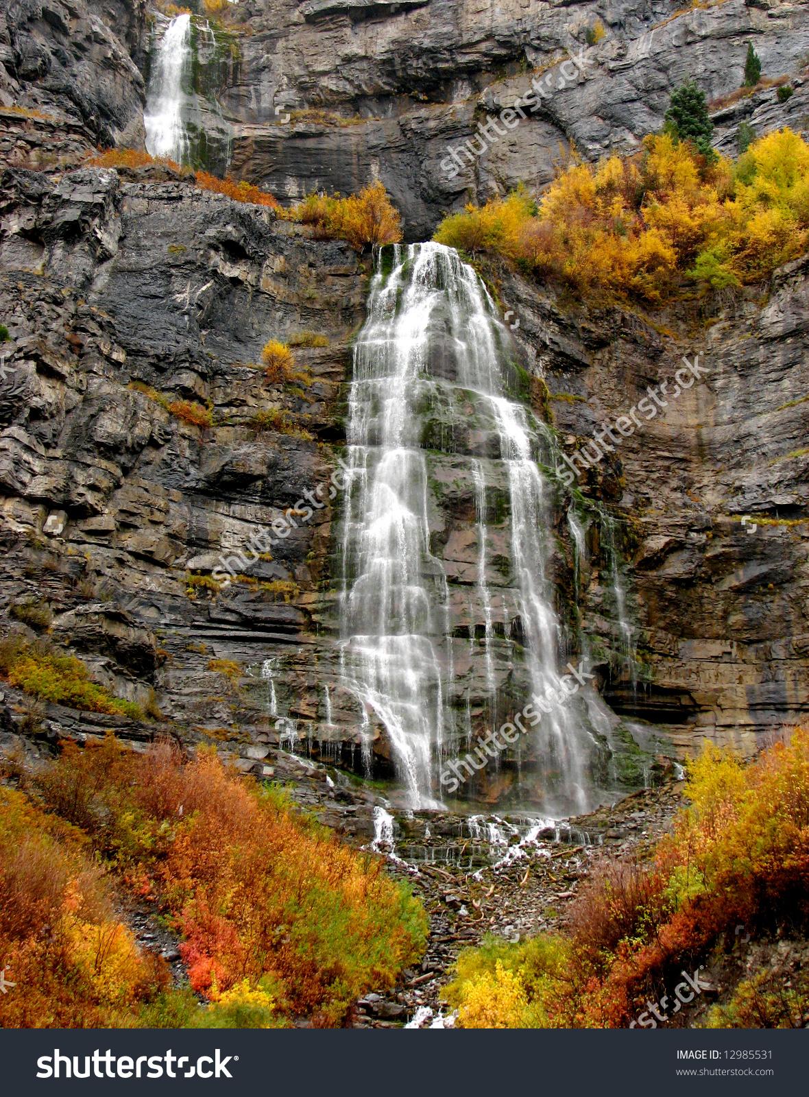 Bridal Veil Falls In Provo, Utah Stock Photo 12985531 : Shutterstock.