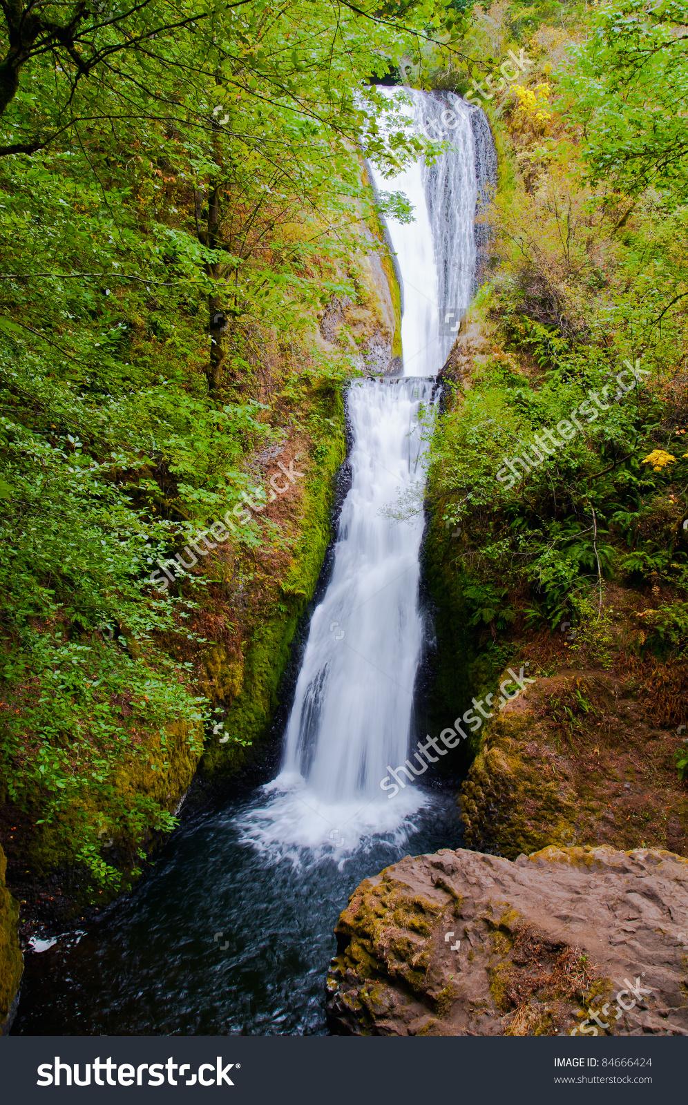 Bridal Veil Falls Columbia River Gorge Stock Photo 84666424.