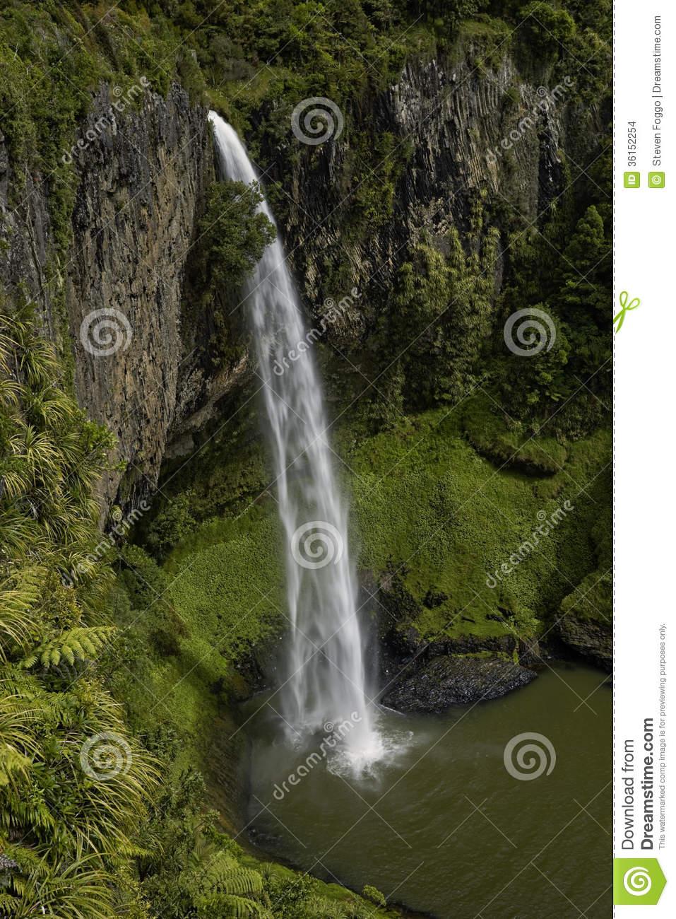 Bridal Veil Falls, Waikato Stock Images.