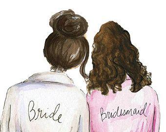 Bridesmaid Pdf Download Brunette Bride Brunette Curly Hair.