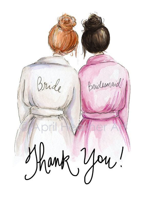 Thank you Bridesmaid PDF Red.