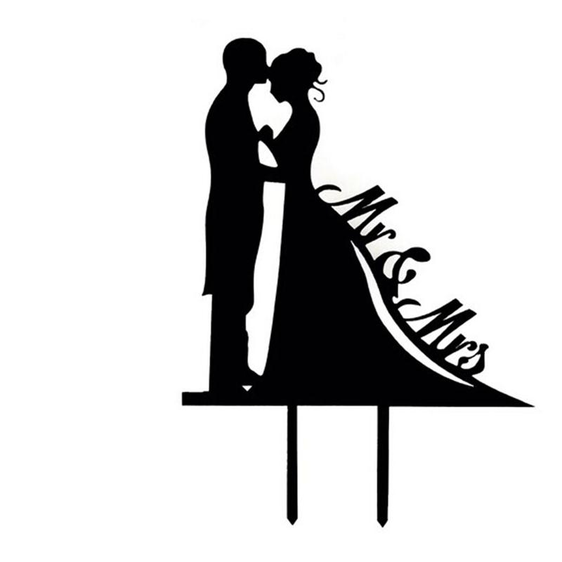bride and groom cake topper clipart - Clipground
