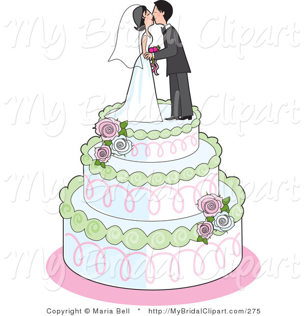 Royalty Free Stock Bridal Designs of Cakes.