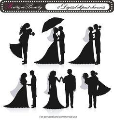 bride silhouette.