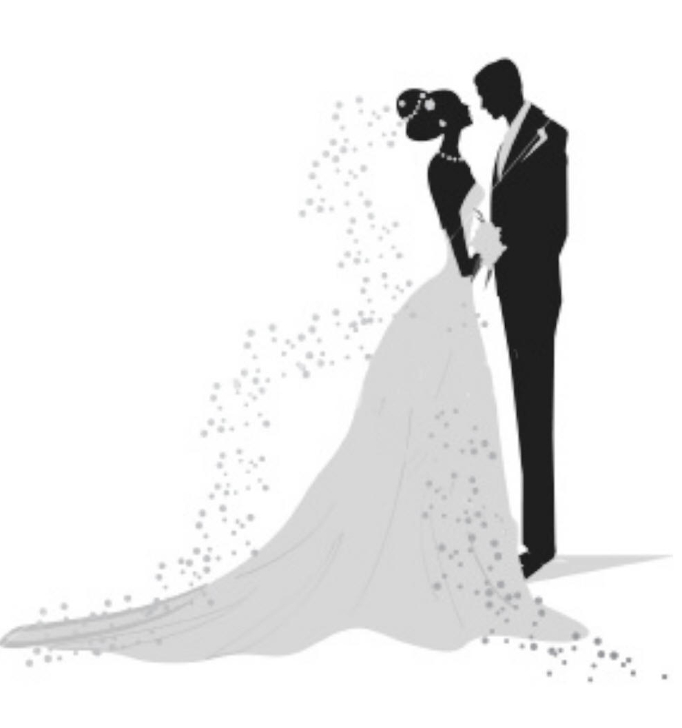Bride and groom clipart 7 bride and groom silhouette image.