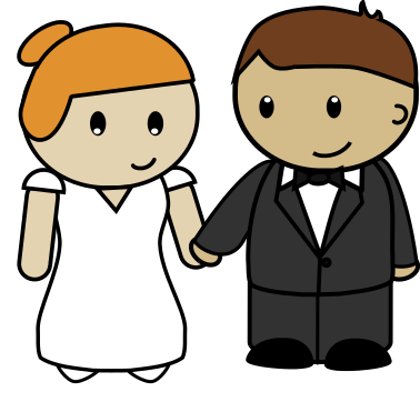 Free to Use & Public Domain Bride & Groom Clip Art.