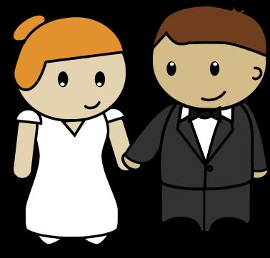 Free to Use & Public Domain Bride & Groom Clip Art.