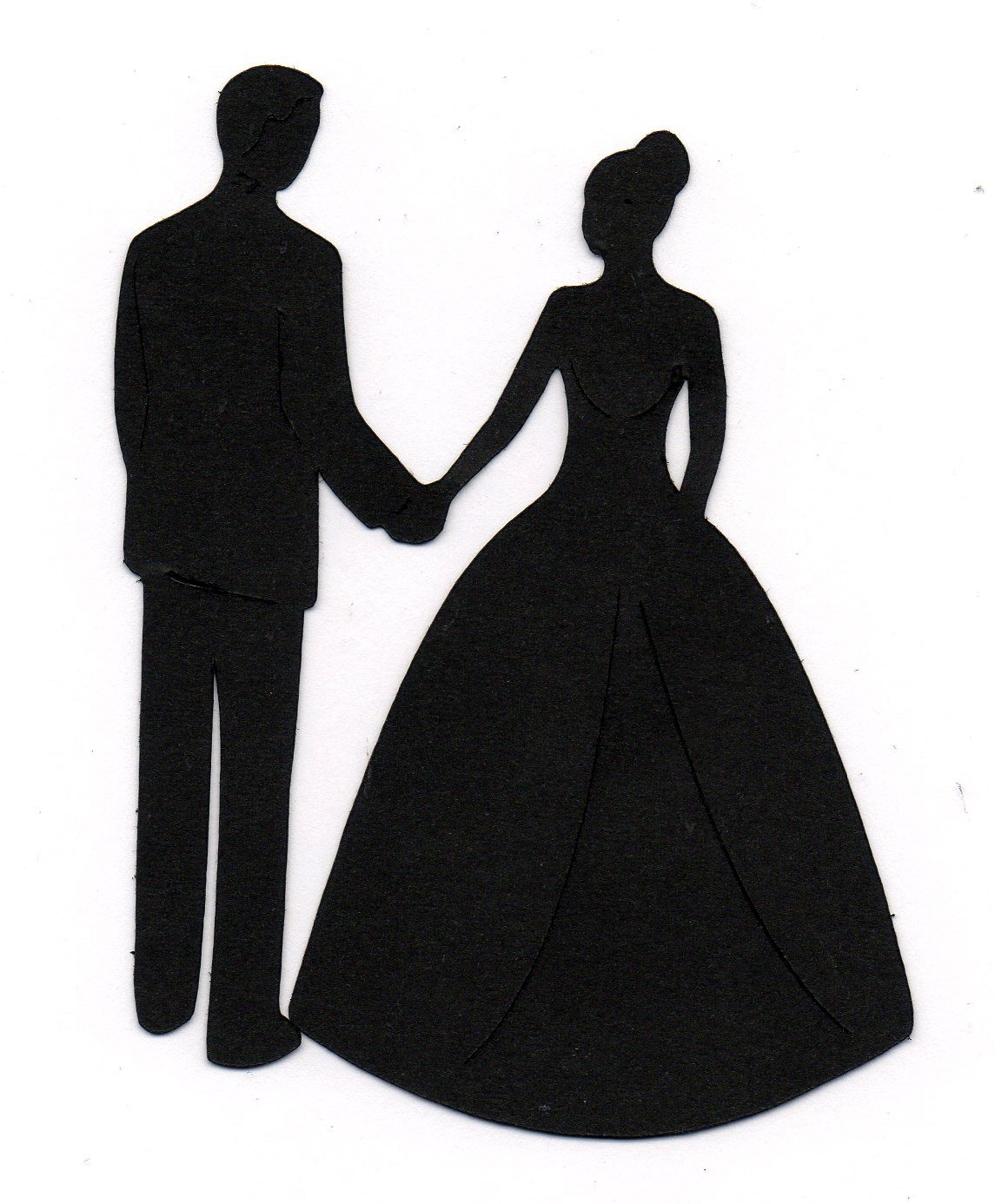 Bride And Groom Silhouette Clipart.