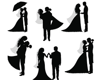 Bride and groom clipart black and white 8 » Clipart Station.