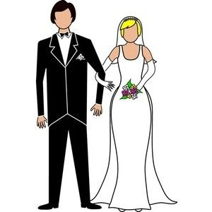 Bride and groom clipart black and white free 2.