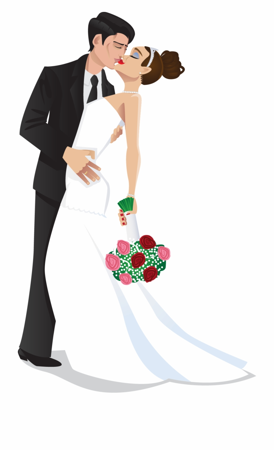 Bride And Groom Kiss Wedding Bride Groom Clipart The.
