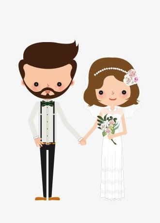 Bride And Groom PNG, Clipart, Bearded, Bearded Man, Bride Clipart.