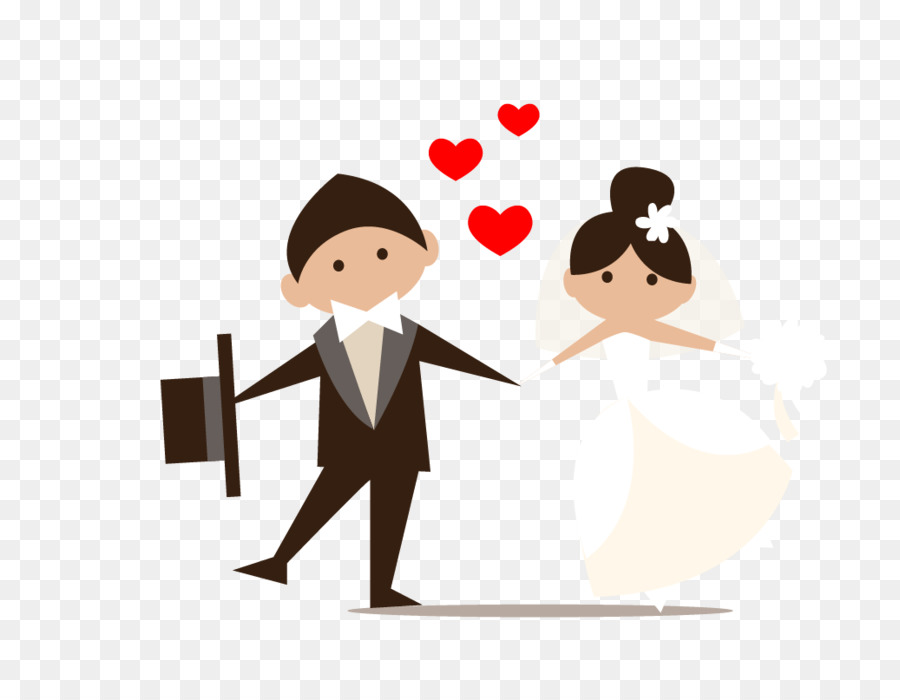 Wedding Couple Cartoon png download.