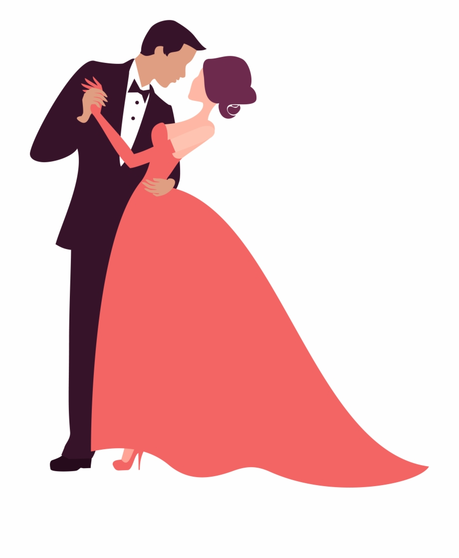 Prom Clipart Bride Groom Dance.