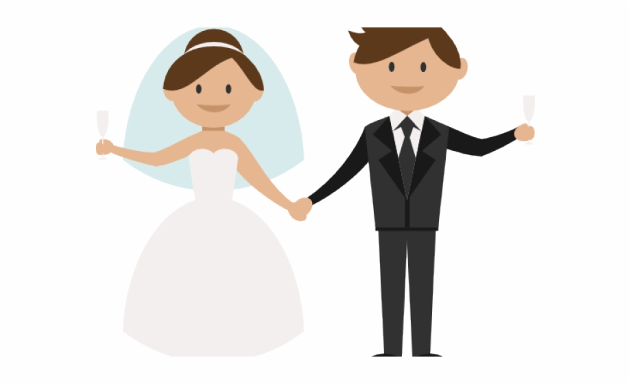 Bride And Groom Clipart Png, Transparent Png Download For Free.