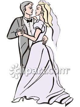 Bride and Groom's First Dance Clip Art.