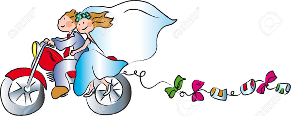 Bride Groom Clipart Motorcycle.