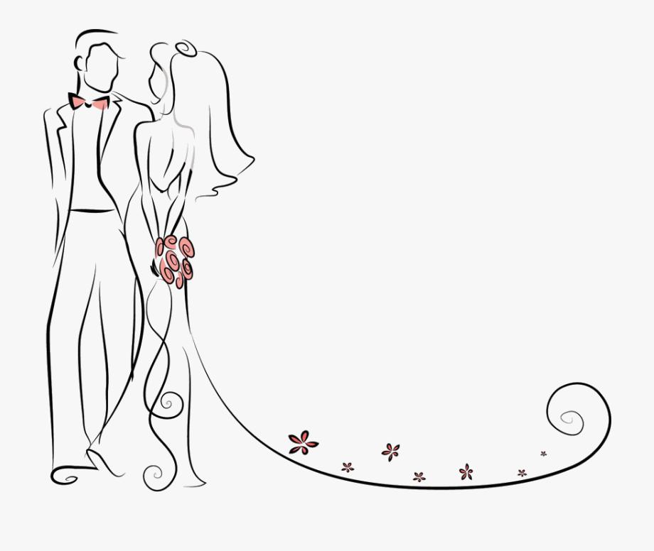 Pictures Couple Wedding Bride Invitation Cartoon.
