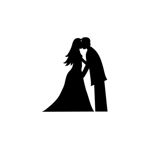 Bride And Groom Clipart Image.