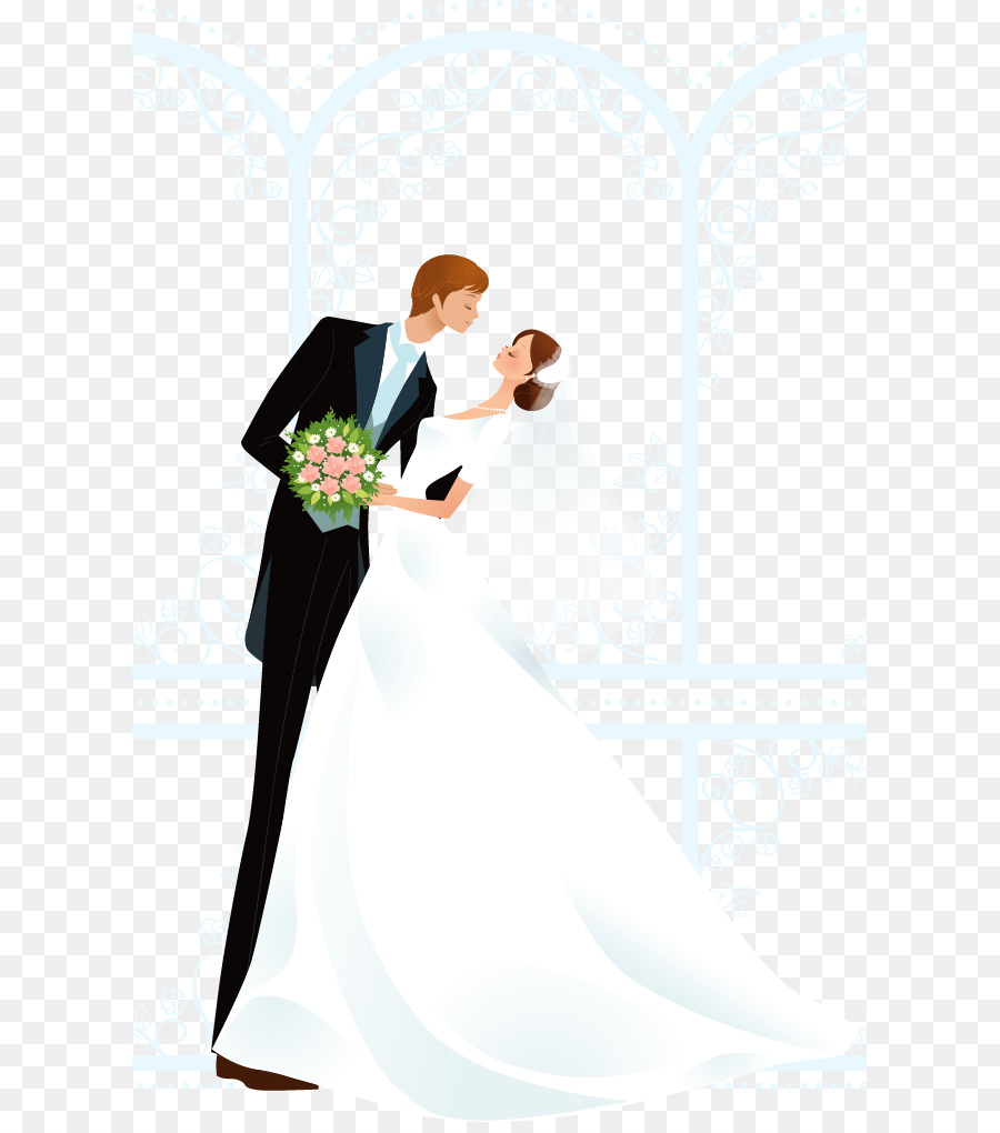 Bride And Groom png download.
