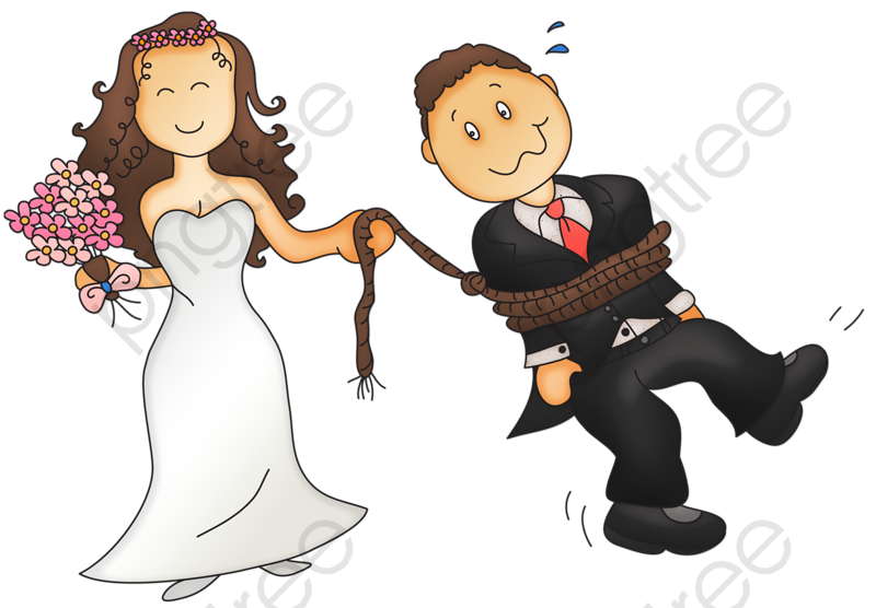 The Bride And Groom Png, Bridegroom, Bride, Illustration PNG.