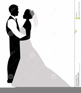 Free Clipart Bride And Groom Silhouette.