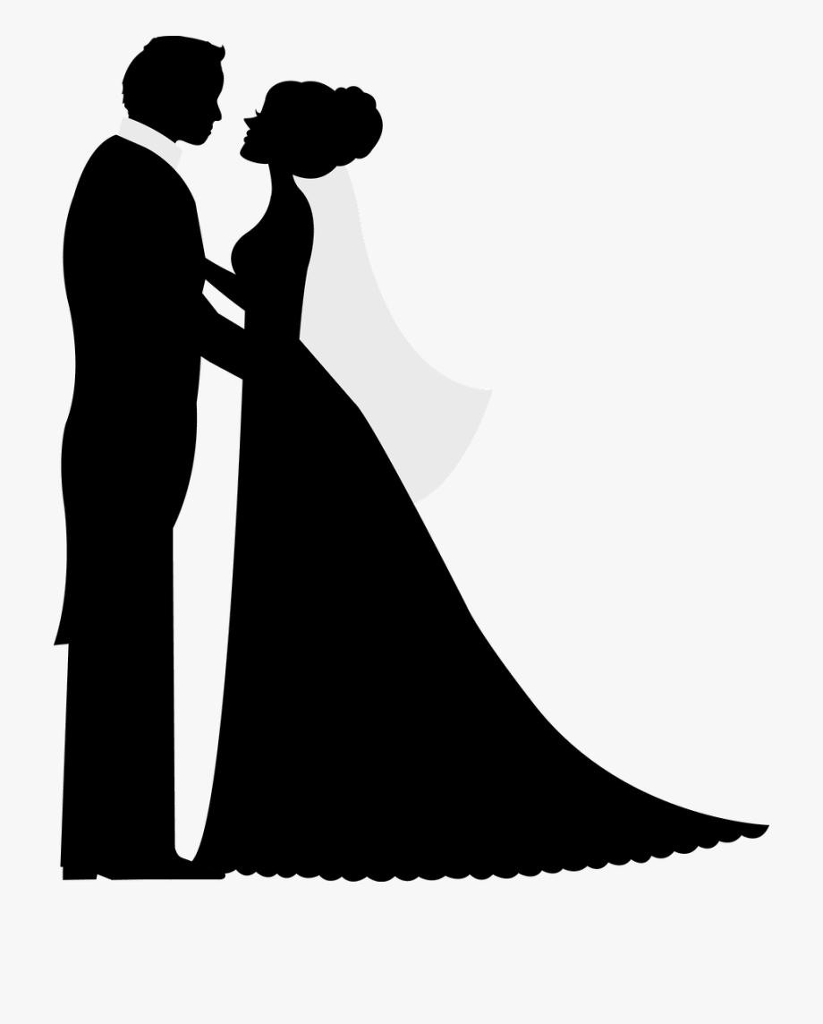 Bride And Groom Silhouette, Wedding Illustration, Wedding.