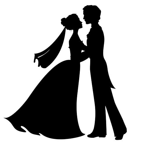 Wedding invitation Bridegroom Silhouette Clip art.