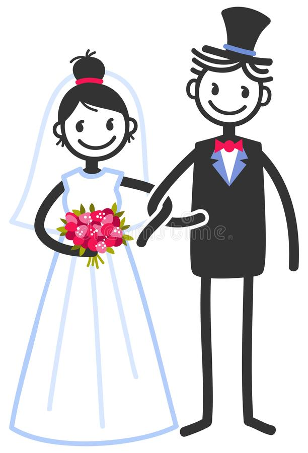 Bride Groom Stick Figure Stock Illustrations.