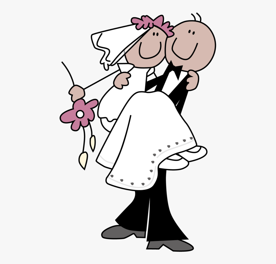 Stick Figure Bride And Groom Clipart.